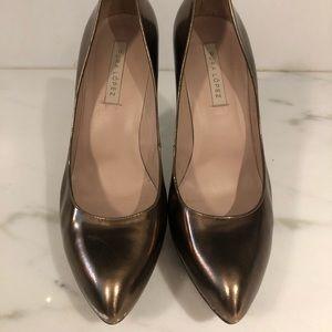Pura López bronze heels
